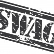 Grunge swag rubber stamp, vector illustration - Stok Vektör