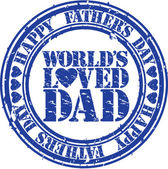 Grunge Happy father s day rubber stamp, vector illustration — Stock Vector