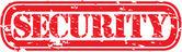 Carimbo de borracha de segurança grunge, ilustração vetorial — Vetorial Stock