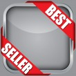 Blank app icon with best seller ribbon, vector illustration — Stock Vector #23204116