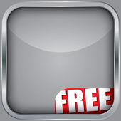 ücretsiz şerit, vektör çizim ile boş app simgesi — Stok Vektör
