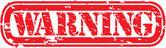 Grunge warning rubber stamp, vector illustration — Stock Vector
