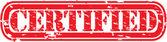Grunge certified rubber stamp, vector illustration — Vetor de Stock