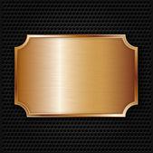 Bronze texture plate, vector illustration — Stock Vector