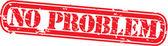 Grunge no problem rubber stamp, vector illustration — Stock Vector