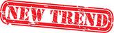 Grunge new trend rubber stamp,vector illustration — Stock Vector