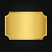 Gold texture plate, vector illustration — Stock Vector