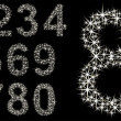 Number set of shining stars , from 1 to 9, vector illustration — Stock Vector #30831487