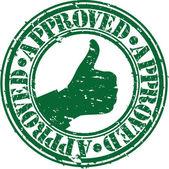 Grunge approved rubber stamp, vector illustration — Stock Vector