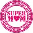 Grunge Happy mothers day rubber stamp, vector illustration — Stock Vector #32417743