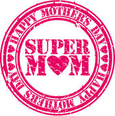 Grunge Happy mothers day rubber stamp, vector illustration — Stock Vector