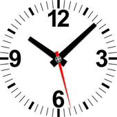 Analog clock icon, vector illustration — Vector de stock