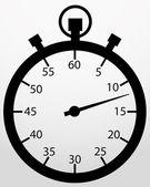 Stopwatch app icon, vector illustration — Stock Vector