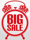 Big sale alarm clock, vector illustration — Stock Vector