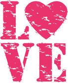 Love grunge rubber stamp, vector illustration — Stock Vector
