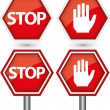 Stock Vector: Stop sign, vector illustration