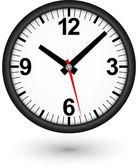 Black clock icon, vector illustration — Stock Vector