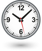 Silver clock icon, vector illustration — Stock Vector