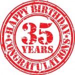 Happy birthday 35 years — Vetor de Stock  #41840383