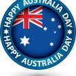 Happy Australia Day blue label, vector illustration — Stock Vector