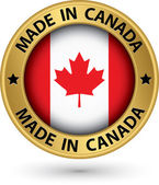 在加拿大黄金标签,矢量图 — 图库矢量图片