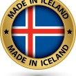 Made in Iceland gold label with flag, vector illustration — Stock Vector #45118041