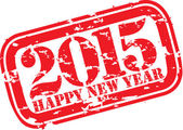 Happy new 2014 year grunge rubber stamp, vector illustration  — Stock Vector