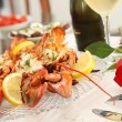Lobster dinner — Stock Photo #12339681