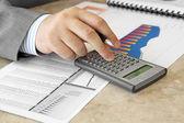 Businessman with Calculator — Stock Photo
