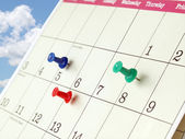 Closeup of Calendar Page — Stock Photo