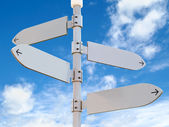 Blank Directional Signs Post — Stock Photo