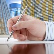 Male Hand with Pen — Stock Photo #15416849