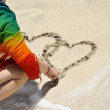 Hearts in the Sand — Stock Photo