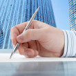 Male Hand with Pen — Stock Photo