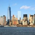 Sunny day in New York City — Stock Photo