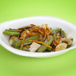 Stock Photo: Stir vegetables and chicken