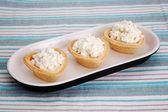 Tartellette con crema di formaggio — Foto Stock