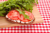 Bread with tomato — Stock Photo
