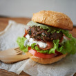 Homemade burger — Stock Photo