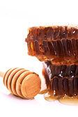 Honingraat met honing — Stockfoto
