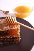 Miele in favo — Foto Stock