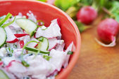 Salad with radish — Stockfoto