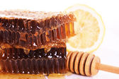 Honeycomb with honey — Photo