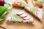 Vegetable sandwiches — Stock Photo