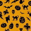 Halloween seamless pattern — Stock Vector #13532313