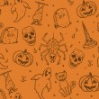 Halloween seamless pattern — Stock Vector #13532461