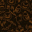 Halloween seamless pattern — Vector de stock #13600205