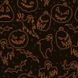 Cadılar Bayramı seamless modeli — Stok Vektör