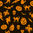 Halloween seamless pattern — Stock Vector #13600299