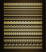 Conjunto de fronteiras vintage — Vetorial Stock